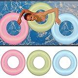 2 x Schwimmreifen - Schwimm Reifen, Schwimmring, Luftmatratze, Schwimmhilfe - (Blau)