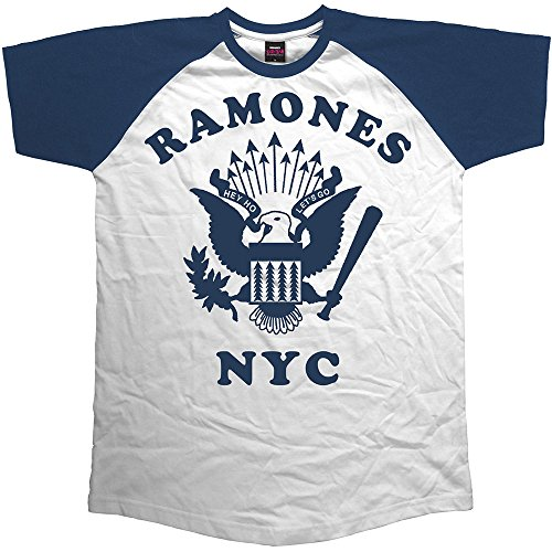 Ramones Eagle (Rock Off Trade Medium Ramones Retro Eagles Herren Raglan T-Shirt)