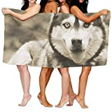 hat pillow Siberian Husky Dog Cool Poster Adult Soft Microfiber Printed Beach Towel For Swimming,Surf,Gym,SPA 80cm130cm,Highly Absorbent
