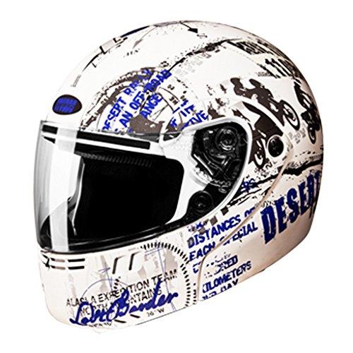 Studds Flip-up Helmet - Ninja 3G D5 Decor-Matt White N1-XL