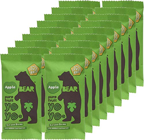 BEAR Apple Pure Fruit Yoyos 20g (Pack of 18)