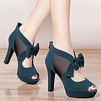 c400824c4c18f Jqdyl Talons hauts Nouveau haut talon rugueux avec le printemps d été  chaussures sauvages chaussures