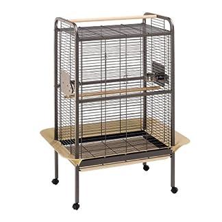 Ferplast Expert 80 Parrot Cage, 109.5 x 81 x 156 cm, Silver 10