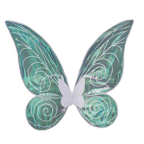 Kostüm Schmetterlingsflügel Weiße (Sharplace Glänzenden Farbwechsel Schmetterlingsflügel für Kinder Erwachsenen Kostüm - Weiß, 46cm *)