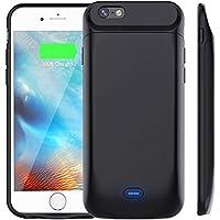 Bovon Custodia Batteria per iPhone 6 /iPhone 6s 5000mAh Ultra Sottile Portatile Caricabatterie Custodia Protettiva con Batteria Esterna Cover per Apple iPhone 6 /iPhone 6s (Nero)