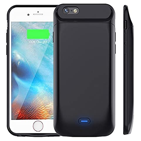 Bovon Coque Batterie iPhone 6S/6, 5000mAh Portable Batterie Externe Rechargeable