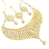 Dancing Girl White Kundans Jewellery Sets For Women