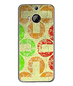 PrintVisa Designer Back Case Cover for HTC One M9 Plus :: HTC One M9+ :: HTC One M9+ Supreme Camera (Floral Rangoli In Crème Colour)