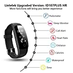 Activity Tracker Lintelek Fitness Tracker Watch With Heart Rate Monitor Touch Screen Waterproof Smart Watch Stopwatch Connected Running Watch With GPS Bluetooth Pedometer For Android IOS Smartphone