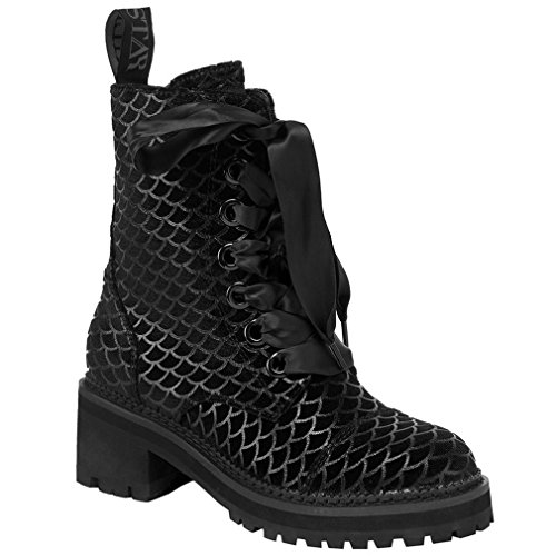 Killstar - Botas de Sintético para Mujer Negro Negro One Size, Color Negro, Talla 40 EU