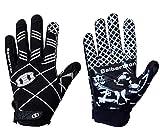 Seibertron Pro 3.0 Elite Ultra-Stick Sports Receiver Glove Football Gloves Youth and Kids Black L