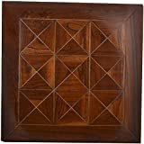 ARS Home Fittings-Wood (ENGINEERING-TEAKWOOD-TILE-9SQ,Brown TeakColour)
