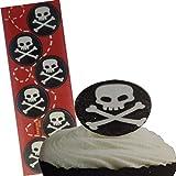 Piraten Essbare Wafer-Kuchen-Deckel (12 Runde Wafer)