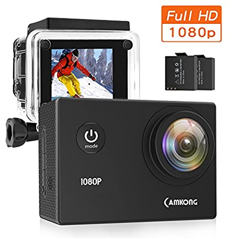 Action Camera, CAMKONG Full HD 1080p action Cam avec 1,5