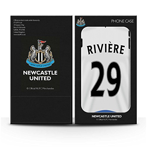 Officiel Newcastle United FC Coque / Etui pour Apple iPhone 7 / Sissoko Design / NUFC Maillot Domicile 15/16 Collection Rivière