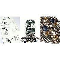 BPS 850–6R00in acciaio inox (grado 304) chiusura a bottone, Kit di riparazione per applicazione tessuto