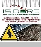 Borne alu–inoxydable pour système anti pigeons universel photovoltaïque marque Isidoro garantie 25ans argent...