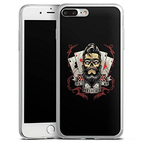 Apple iPhone X Slim Case Silikon Hülle Schutzhülle Pokerface Spruch Poker Silikon Slim Case transparent
