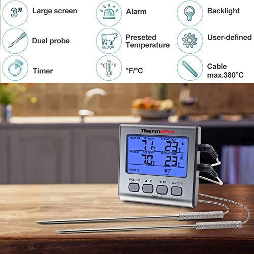 Zoom IMG-1 thermopro tp17 termometro cucina digitale