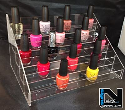 Nail Polish Acrylic Display Stand Holds Approx 50 Bottles (eco 50)