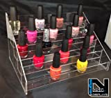 FiNeWaY@ 5 TIER NAIL POLISH ACRYLIC DISPLAY STAND HOLDS APPROX 50 BOTTLES HIGH QUALITY
