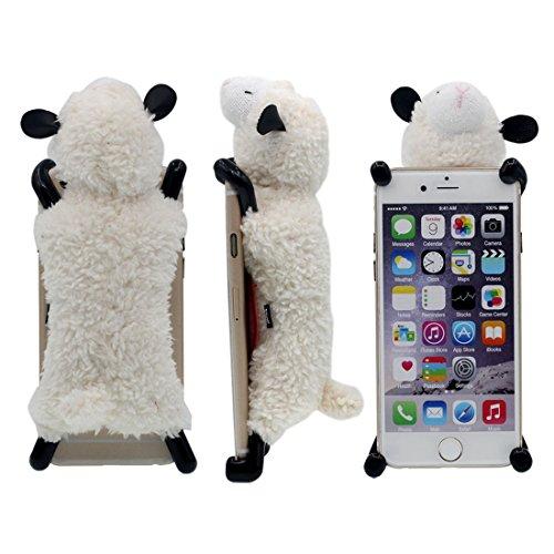 Schutzhülle für iPhone 6 6S Hülle, interessant Neuer Entwurf Weich Cutton Schaf Puppe Serie Verschiedene Farbe Handyhülle Case für Apple iPhone 6S 6 4.7 inch Weiß