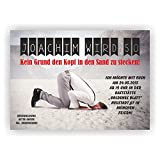 Einladung Geburtstag Kopf in den Sand stecken l Einladungskarten Fun Spaß lustig (30 Stück)