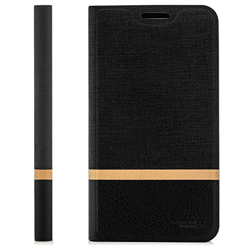 zanasta Designs Tasche Huawei G Play Mini Hülle Flip Case Schutzhülle Handytasche mit Kartenfach Schwarz