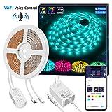 Govee Smart WIFI LED Strip, 5M LED Streifen Arbeitet...