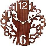 Rise n Shine Tree Shaped Wall Clock Wood Decorations Housewarming Clocks - EDWALCLK13