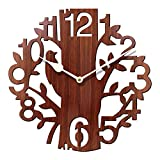 #7: Rise n Shine Tree Shaped Wall Clock Wood Decorations Housewarming Clocks - EDWALCLK13