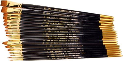Silver Brush Limited Silver Brush JHS-510 John Howard Sanden Red Sable Atelier Brush Set, 19 Per Pack -