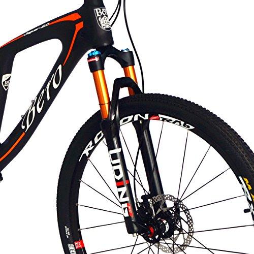 51DEc9y4L L. SS500  - BEIOU Carbon Dual Suspension Mountain Bicycles All Terrain 27.5 Inch MTB 650B Bike SHIMANO DEORE 10 Speed 12.7kg T700 Frame Matte 3K CB22