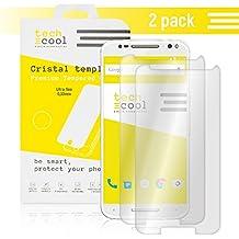 [Pack - 2] Motorola Moto X Style Protector de Pantalla I TechCool® Cristal Templado para Motorola Moto X Style I Vidrio Templado, Fijación Perfecta - Sin Burbujas I HD, Dureza 9H - Kit de Instalación Incluido