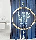 Duschvorhang VIP Lounge 180 x 180 cm, hochwertige Qualität, 100% Polyester, wasserdicht, Anti-Schimmel-Effekt, inkl. 12 Duschvorhangringe