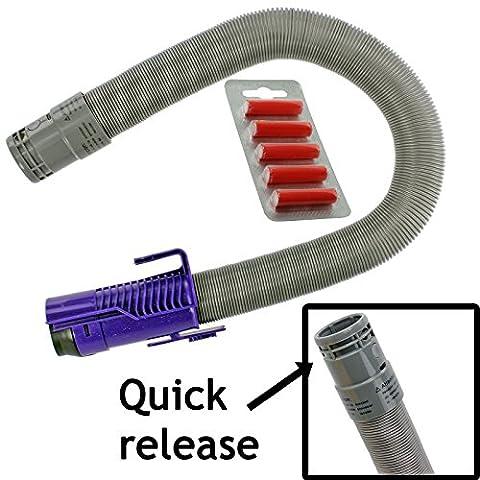 spares2go Libération rapide Tuyau pour aspirateurs Dyson DC07(4, Violet/Gris + Désodorisants)