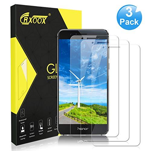 [3 Stück] Panzerglas Schutzfolie für Huawei Honor 8, [Anti-Kratzer/Ultra Resistent] [Einfach zu installieren] [Blasenfrei] [3D Touch/9H Härte] - für Huawei Honor 8 - Transparent