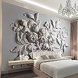 BIZHIGE Große Gypsum Papel Blume Wandbild 3D Wand Fototapeten Tapete Für Bettwäsche Zimmer TV Hintergrund 3D Wall Murals Tapeten,208 X 146Cm (6.8X4.8 Ft) - Can Be Customized