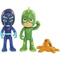 PJ Masks - Pack de Dos Figuras Gekko y Ninja Nocturno (Bandai 24557)