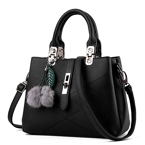 GoodPro Women Bags Women Handbags Elegant Fashion Handbags for Women Totes Purse Shoulder Bags GPG116 (Black)