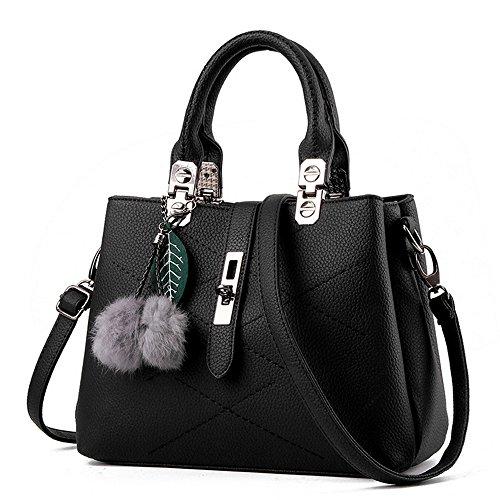 GoodPro Women Bags Women Handbags Elegant Fashion Handbags for Women Totes Purse Shoulder Bags GPG116 (Black)