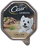 Cesar Hundefutter Nassfutter Landküche Pute und Rind, 14 Schalen (14 x 150 g)