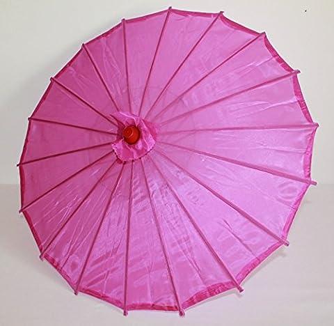 AAF Nommel ® Deko- Kinder- Sonnenschirm aus Stoff und Holz purple lila, 044