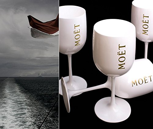 1 x New Moet Chandon Glass 2015 Ice Imperial White Acrylic Champagne Glas by Moet