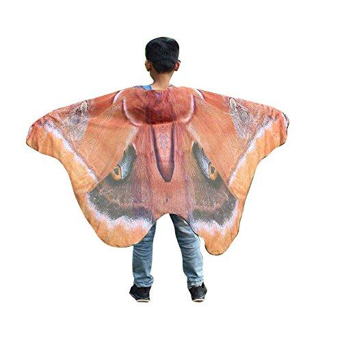 TEBAISE Karneval Jungen Party Wings Mädchen Dchen Schmetterling Flügel Kinder Schal Cosplay ZubehöR Kind FlüGel Umhang Fasnacht Kostüm Butterfly Pashmina Cape Poncho Flügel Für Kinder