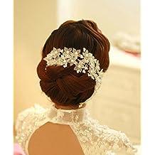 Losuya® Hecho a mano Pearl tocado novia boda accesorios pelo (baile. Accesorios