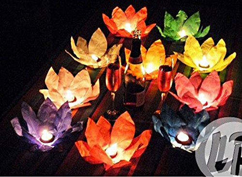 2Kerzen schwimmenden Nenuphar Fleur de Lotus 18cm (Schwimmende Lotus Kerzen)