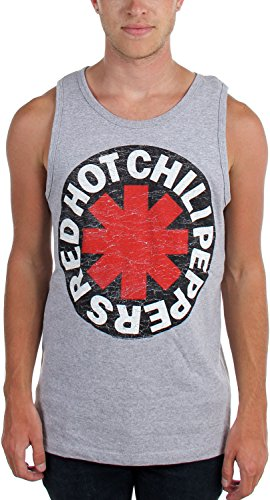 Red Hot Chili Peppers – para hombre asterisco envejecida Tank Top, Gris - gris, mediano