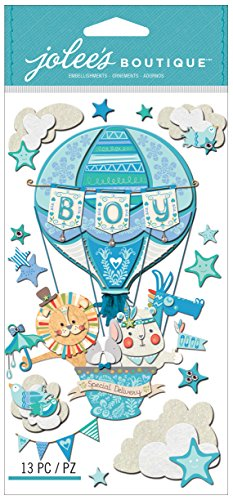 Jolee's Boutique Dimensional Sticker Baby Boy Special Delivery -