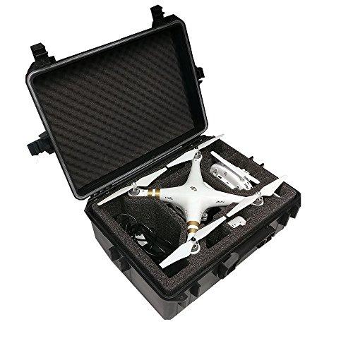Hartschalen Koffer passend für den DJI Phantom 4 und DJI Phantom 4 Professional sowie Phantom 3 Adv und Pro mit angeschraubten Propellern und viel Zubehör von MC-CASES